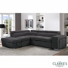 Capri Plus Left Hand Facing Corner Sofa Bed with Ottoman