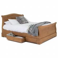 Carmen solid oak bed frame