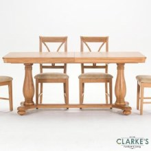 Carmen Oak extending dining table