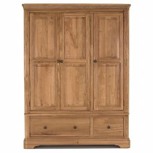 Carmen Oak Triple Wardrobe