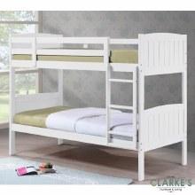 Cassie white bunk bed