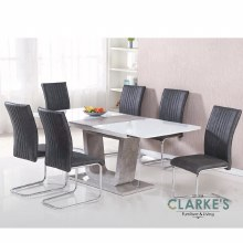 Castello Dining Set. Extending Table & 6 Chairs