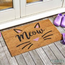 Cat's Whiskers - Coir Door Mat 45 x 75 cm