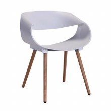 Celine Ribbon Curl White Chair