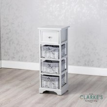 Chester 1 Drawer 3 Basket Storage Cabinet Grey