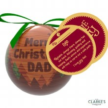 Christmas Gifting Bauble with Sentiment Card - Merry Christmas Dad
