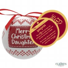 Christmas Gifting Bauble with Sentiment Card - Merry Christmas Daughter