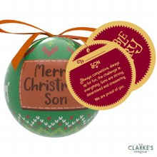 Christmas Gifting Bauble with Sentiment Card - Merry Christmas Son