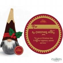 Christmas Gifting Gonk with Sentiment Card - Christmas Wish