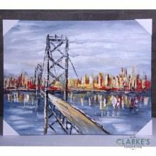 City Bridge View - Wall Art on Canvas
