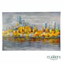 City Skyline - Painted Wall Art on Canvas