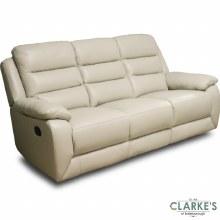 Claudia Half Leather 2 Seater Recliner Sofa Cream