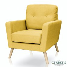 Cleo Accent Chair Gold Colour