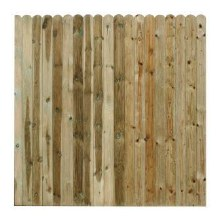 Close Board 95mm Round Top Fence Panel 1.8 x 1.8m