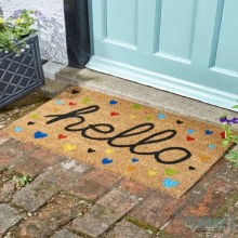 Hello - Coir Door Mat