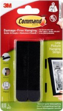 Command 3M Large Picture Hanging Strips Black
