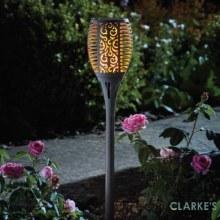 Cool Flame Torch - Garden Solar Stake Light Slate 75 cm