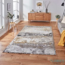 Craft Grey / Ochre Rug