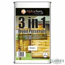 Cromar 3 in 1 Wood Preserver Green 5 Litre