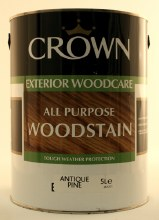 Crown 5Ltr Woodstain Ant Pine