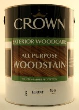 Crown Woodstain Ebony 5 Litre