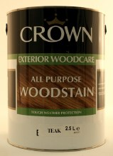 Crown Woodstain Teak 2.5lt
