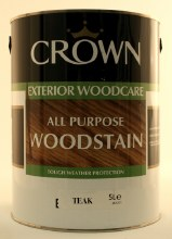 Crown 5Ltr Woodstain Teak