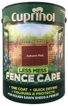 Cuprinol Fence Care Autumn Red 5Ltr
