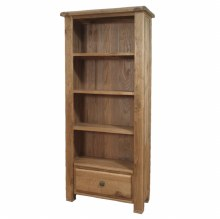 Danube Weathered Oak Large Bookcase