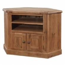 Danube Weathered Oak Corner TV Unit