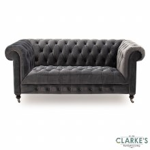 Darby velvet sofa grey