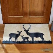 Deer Family - Fibre Door Mat