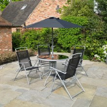 Deluxe Black 6 Pieces Garden Furniture Set