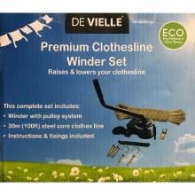 De Vielle Premium Clothesline Winder Set 30m