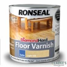 Ronseal Diamond Hard Floor Varnish Light Oak 2.5 Litre