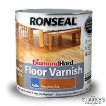 Ronseal Diamond Hard Floor Varnish Medium Oak 2.5 Litre