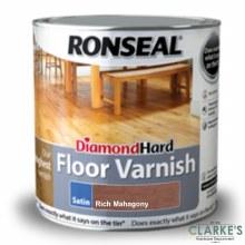 Ronseal Diamond Hard Floor Varnish Rich Mahagony 2.5 Litre
