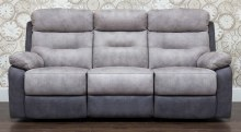 Dillon 3 Seater Recliner Sofa Grey