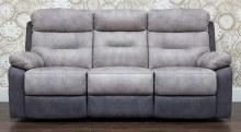 Dillon 3 Seater Recliner Sofa Grey
