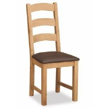 Salisbury Lite Oak padded seat dining chair