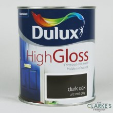 Dulux High Gloss Dark Paint Oak 750 ml
