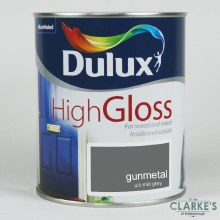Dulux High Gloss Paint Gunmetal 2.5 Litre