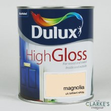 Dulux High Gloss Paint Magnolia 750 ml