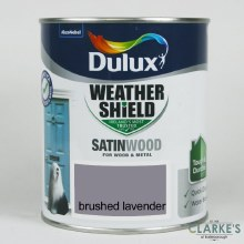 Dulux Weather Shield Satinwood Paint Brushed Lavender 750 ml
