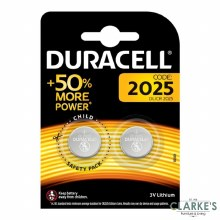 Duracell DL/CR 2025 Batteries Pack of 2
