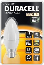 Duracell 4W B22 LED Candle Bulb