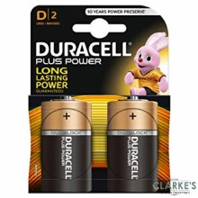 Duracell Plus Power D Batteries 2 Pack