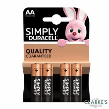 Duracell Simply AA Batteries Pack of 4