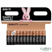 Duracell Simply AAA Batteries Pack of 12