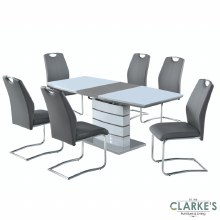 Elena Grey Extending Table and 6 Chairs